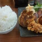 餃子王 - 料理写真:餃子Wセット(ご飯大盛)