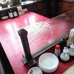 中国家庭料理 上海や - 大テーブル仕切り板
