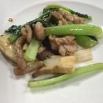 中国家庭料理 神洲之華 - ③豚肉青菜醤油炒