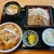 福寿庵 - 料理写真:福寿庵@十日市場 かつ丼セット(1100円)