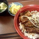 すき家 - 豚かばやき丼大盛り+おしんこセット