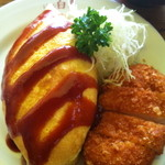 レストラン 白鳥 - オムカツアップ