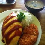 レストラン 白鳥 - オムカツ (800円)