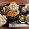 ザ定食&ドリンクス 東里 - 料理写真:焼肉とチキンカツ定食