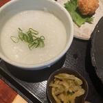 オールドハウス ラオファン - お粥とザーサイ。御飯も選べます(  *´ω`*  )/