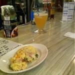 15299219 - 定番ロシアンサラダとビール
