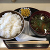 クッキングボーイ - 料理写真:セットのご飯と肉吸い