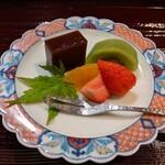 鮨長 - フルーツと自家製水羊羹
