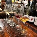 ピパル - 利きワイン三種セット(1,380円) 写真は飲みかけです
