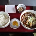 いわや - 料理写真:饂飩定食(肉うどん)