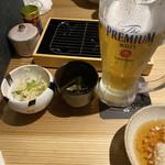 天ぷらと寿司18坪 - ビールとお通し