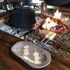 吉田家住宅 - 料理写真:お団子を囲炉裏で焼きます