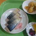 道の駅 瑞穂の里・さらびき - さば寿司セットのさば寿司