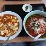153035324 - 麻婆豆腐丼と台湾ラーメンセット
