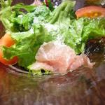 15304973 - 前菜(生ハムと野菜サラダ)