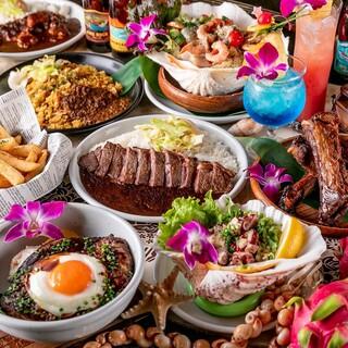 ハワイアン料理を満喫♪