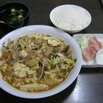 大衆食堂むつみ - 「味噌豆腐(定食)」です。