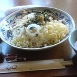 レストラン 蔵王 - 冷やしたぬきうどん(\525)