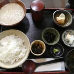 山ぼうし - 料理写真:麦とろ定食1200円(税別)