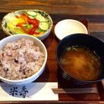 米寿 - ご飯・味噌汁・ミニサラダ