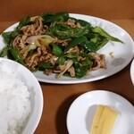 菊亭 - 料理写真:ピーマンと肉の炒め定食