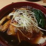 高円寺肉汁うどん 夕虹 - 肉汁アップ