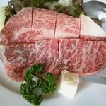 15306675 - 広島黒毛和牛と焼き野菜()