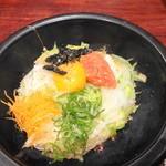 栄喜知 - 〆は明太子の石焼きご飯 さしずめ和風ビビンバ