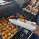 たこ焼き ばーど - 料理写真:湿度も高く、暑いなかを作っていただきました(感謝)