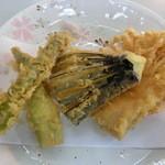 笑乃讃 - 野菜天3種盛り