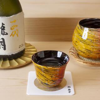 銘酒から希少品まで日本酒を多数ご用意。こだわりの酒器でご提供