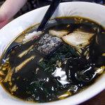 味はな - 海鮮とろろラーメン黒スープ750円