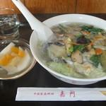 中国家庭料理 嘉門 - ランチ たんめん。
