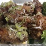天空富士見庵 - 料理写真:鶏唐揚げネギ塩ダレ さっぱり美味しい