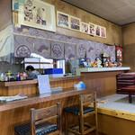 なかの食堂 - 厨房方面