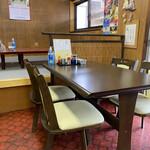 なかの食堂 - テーブル席