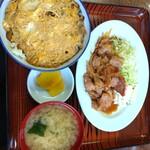 食事処 かずき - ■しいたけ丼 ■豚肉生姜焼き