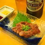 甲州屋酒場 - 2012.10 鶏白レバーのタタキ(730円)