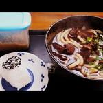 Gansodokidokiudon - 肉肉うどん&おにぎり