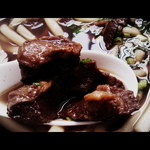 Gansodokidokiudon - こんなほほ肉が入ってます。
