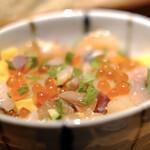 蕎麦前酒場 はんさむ - 海鮮ばらちらし&蕎麦のセット