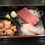 富水 - なかなかなお刺身と、うまいタコの前菜