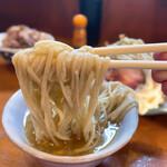 153168220 - つけ麺(大) 1150円、チャーシュー増 3枚 300円                         とりマヨ丼 250円