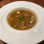 エノテカ・アルキミスタ - アルキミスタランチ スープ お野菜のミネストローネ