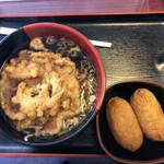 蓼科 - 天ぷらそばといなり寿司セット