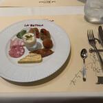 ラ・ベットラ・ダ・オチアイ ナゴヤ - 本日の前菜盛り合わせ