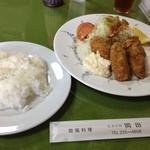 ビストロ岡田 - ランチのカキフライ
