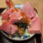 江戸富士 - 鮪トロを一旦非難して