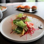 アゴーラ福岡 山の上ホテル - 生ハム(本場)生野菜(珍しい)