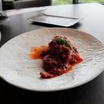 アゴーラ福岡 山の上ホテル - 選べるメイン、鯛、魚介トマトで